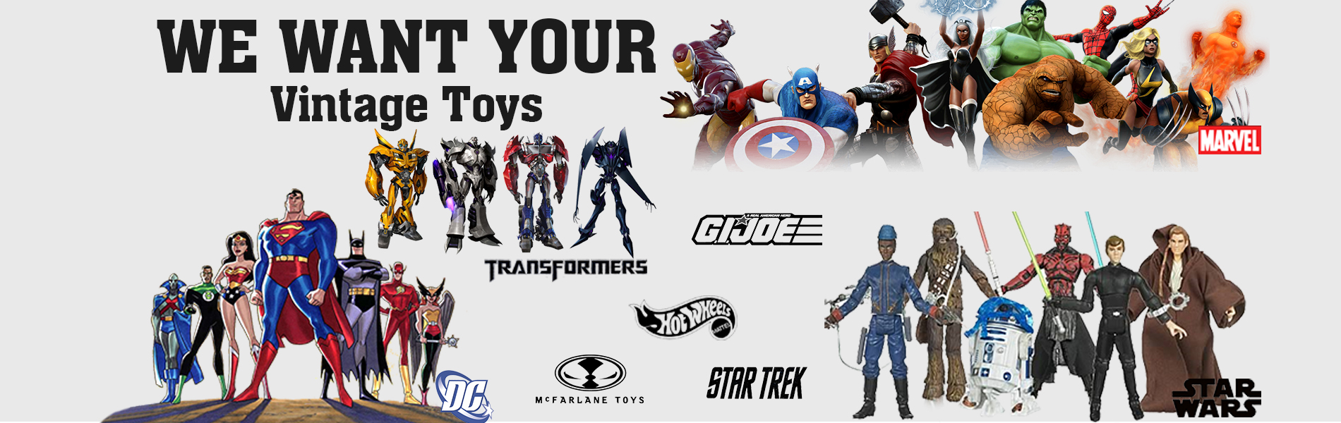We Want Your Vintage Toys