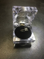 14kt white gold ladys custom Diamond Engagment Ring (2)