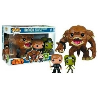 Funko Pop star wars 3 pack Rancor with luke skywalker and slave oola
