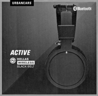 Urbanears Bluetooth Active hellas wireless black belt headphones