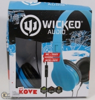 Wicked Audio the kove headset and mic blue