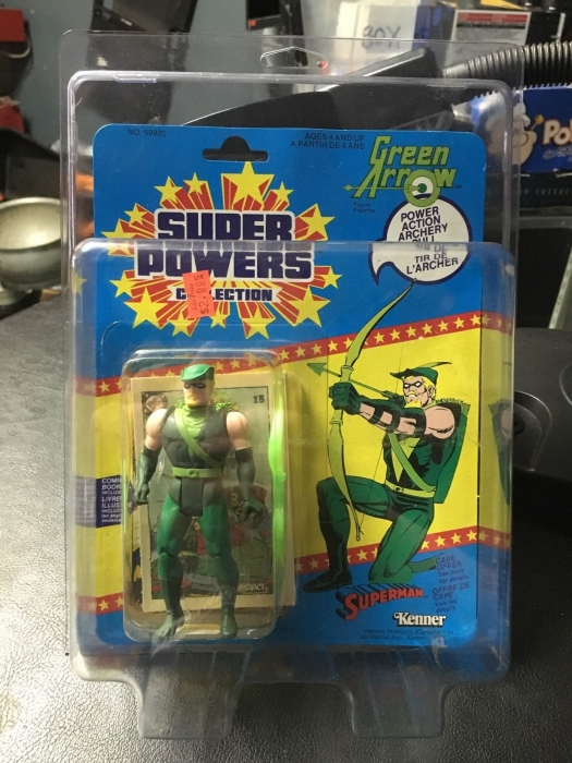 1985 Kenner Super Powers Green Arrow MINT!!!