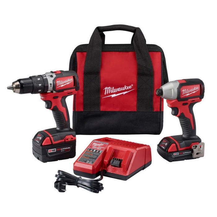 Milwaukee M18 Cordless - Brushless Drill/Brushless Impact (2 Tool Combo Kit)