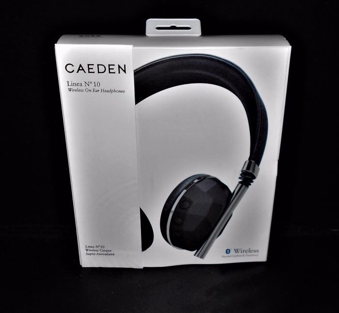 caeden linea N 10 wireless on ear headphones black and grey